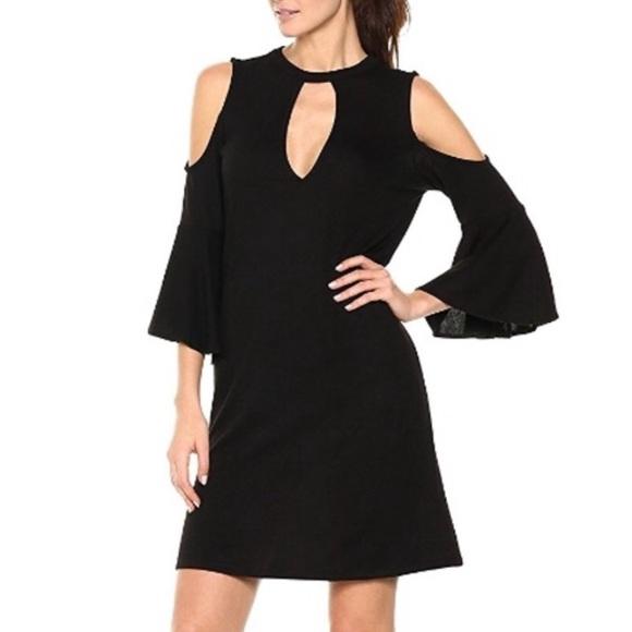 William Rast Dresses & Skirts - William Rast black cold shoulder bell sleeve dress